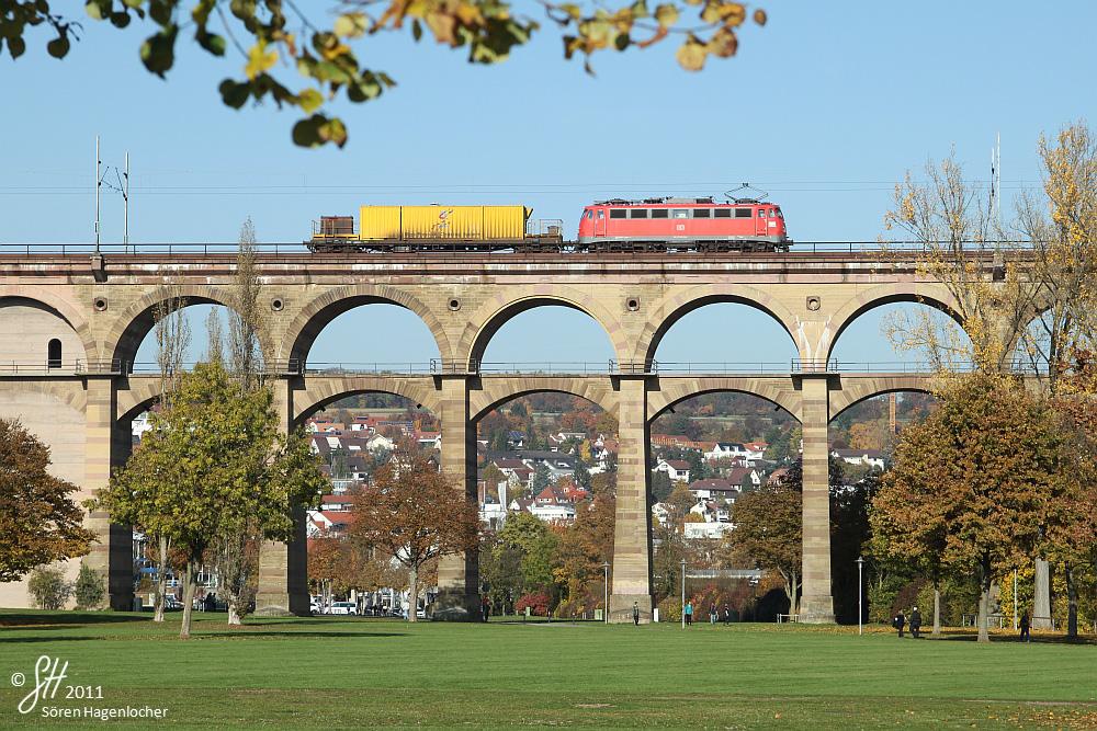 Herbstliche Schienenreinigung