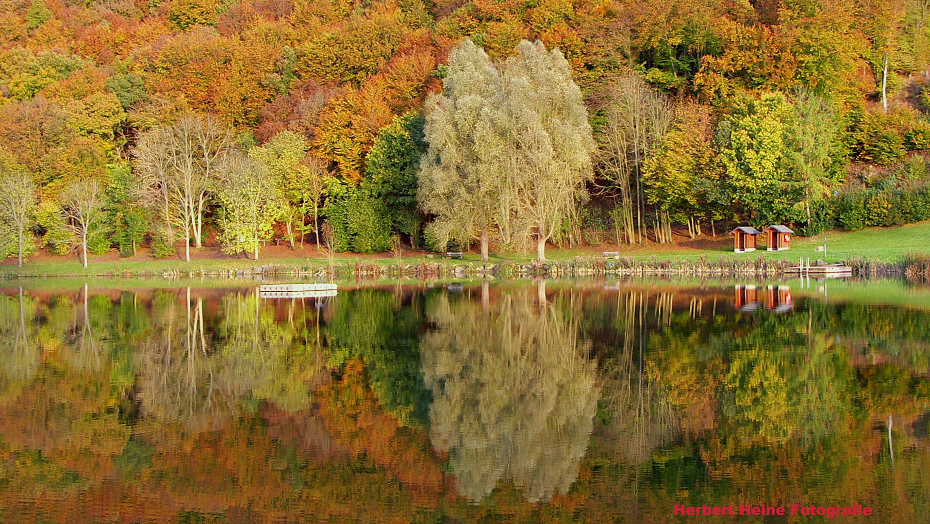 Herbstliche Wasserspiegelung.......