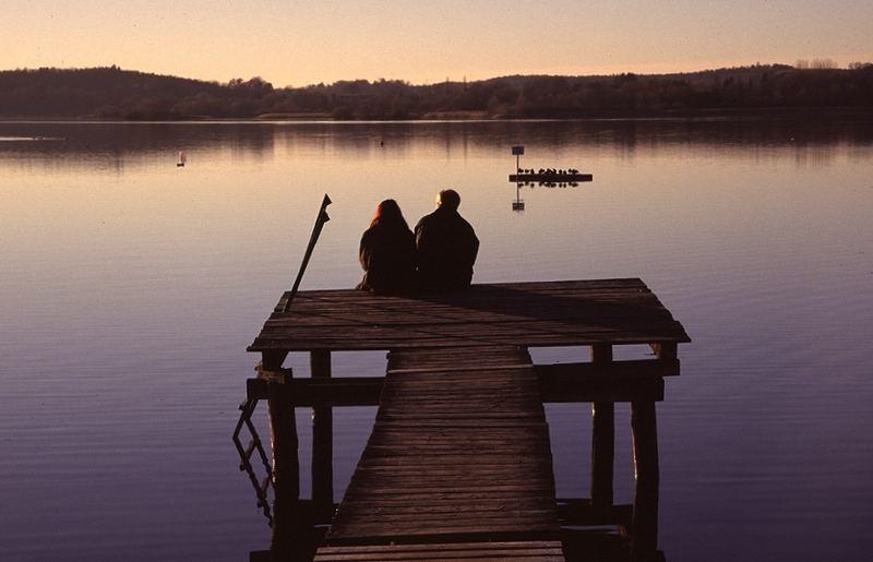 Herbstlicher Abend am See