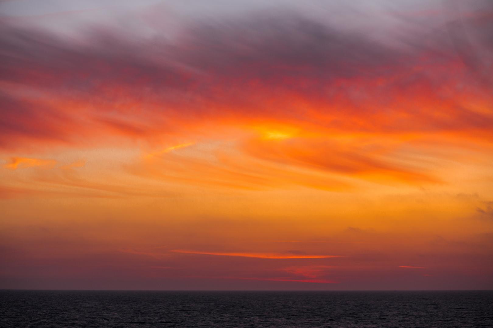 Herbstlicher Abendhimmel auf Sylt