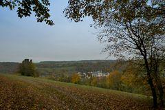 Herbstlicher Blick auf Kloster Schöntal