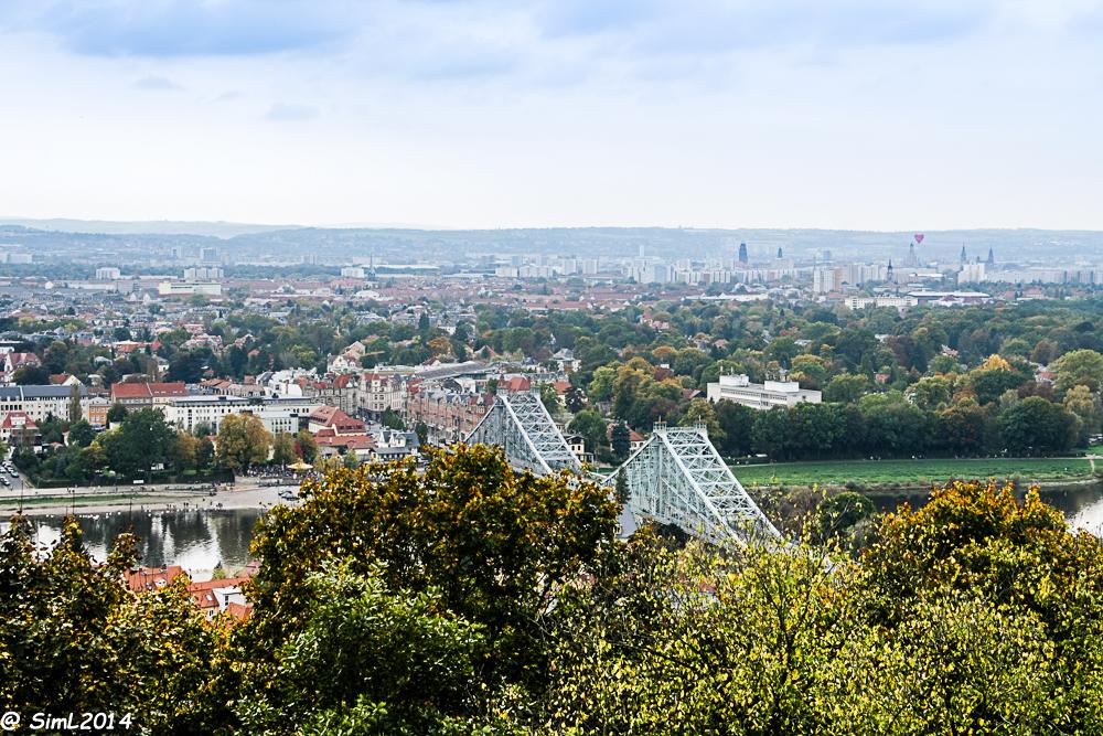 Herbstlicher Blick über Dresden