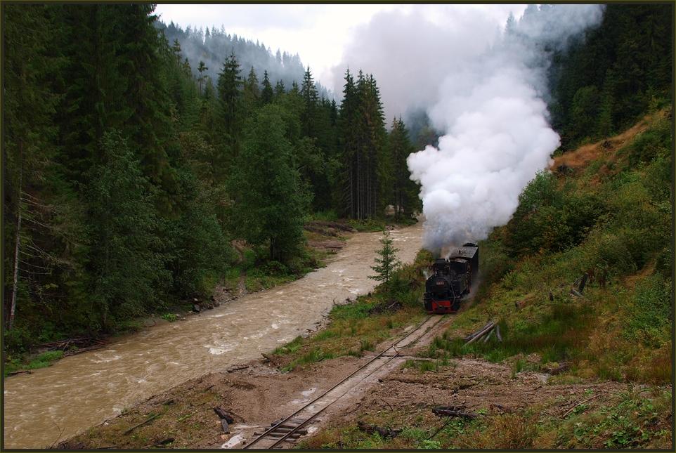 Herbstlicher Dampfbetrieb im Valea Vaserului – IV