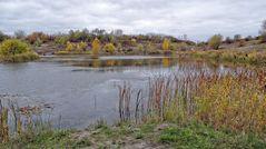 Herbstlicher Tongruben-Teich