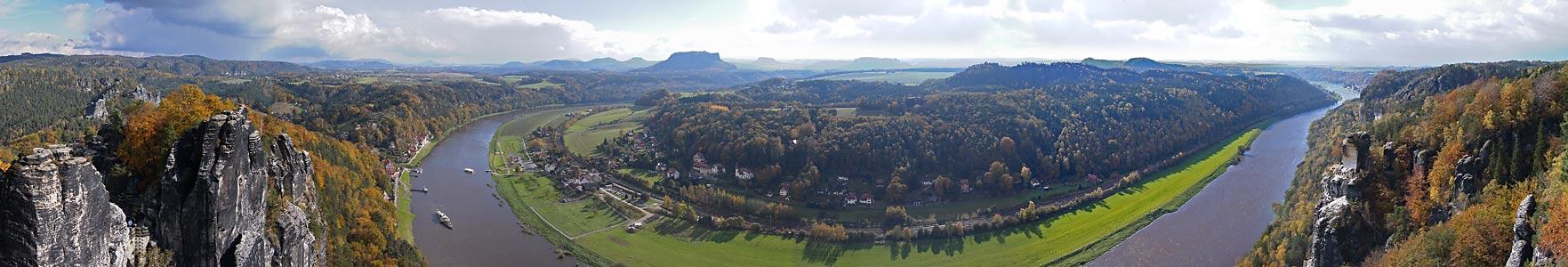 Herbstliches Bastei-Halbrund