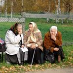 Herbstliches Schwätzchen In Goritzy in Russland