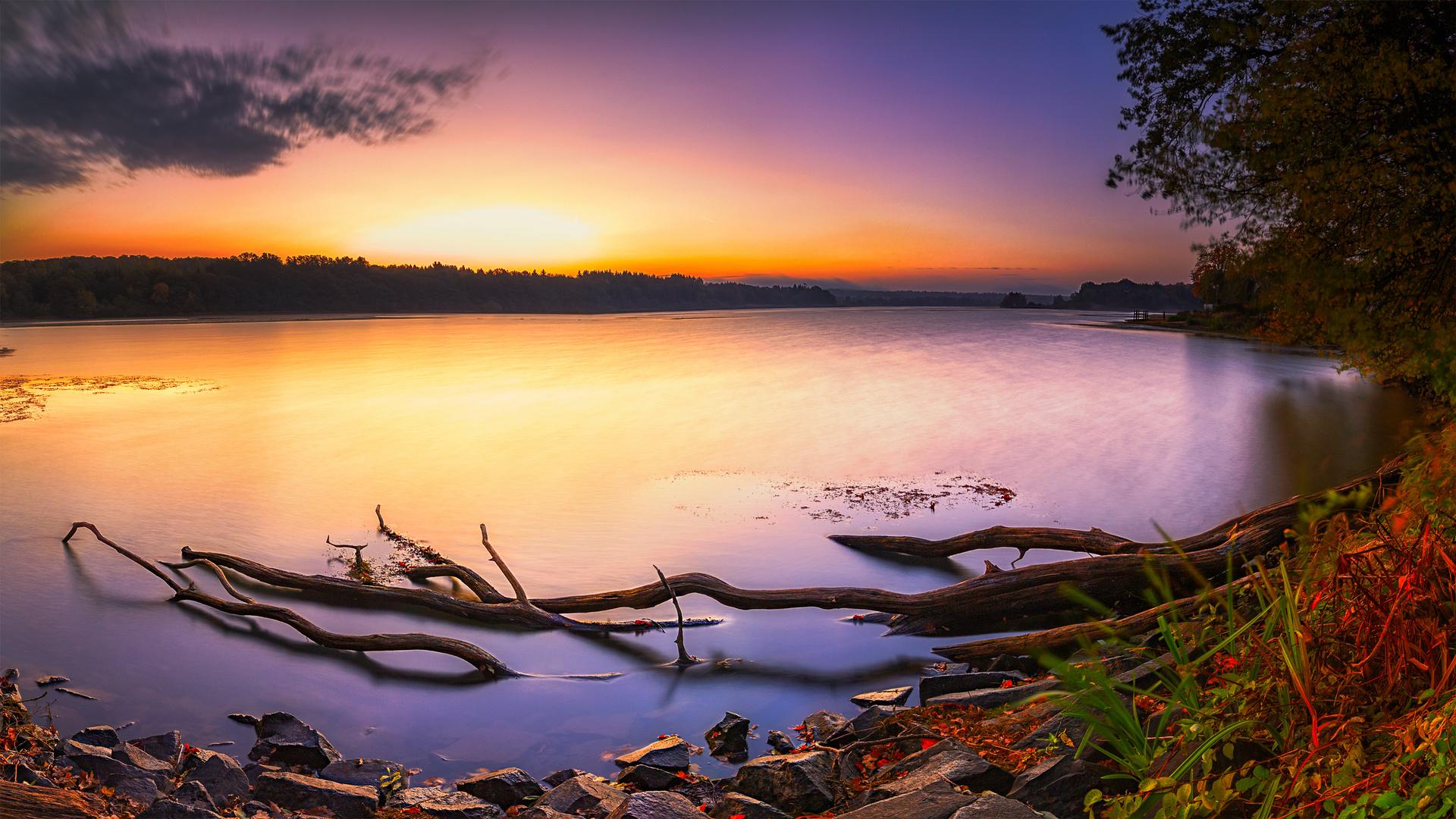 Herbstmorgen am Dreifelder Weiher