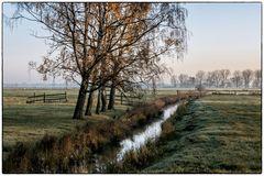 Herbstmorgen vor der Stadt