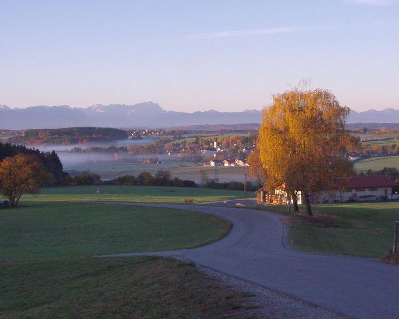 Herbstnebel in Oberbayern
