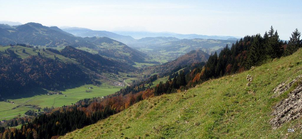 Herbstpanorama bei Oberstaufen /Allgäu