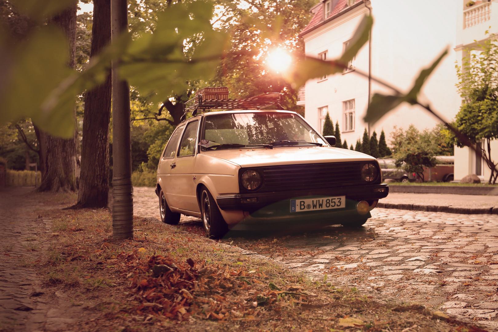 Herbstparkplatz
