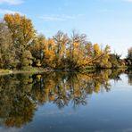 Herbstspiegel am See,  mirror of Autumn at the lake, espejo del otoño en el lago