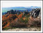 Herbststimmung an den Schrammsteinen