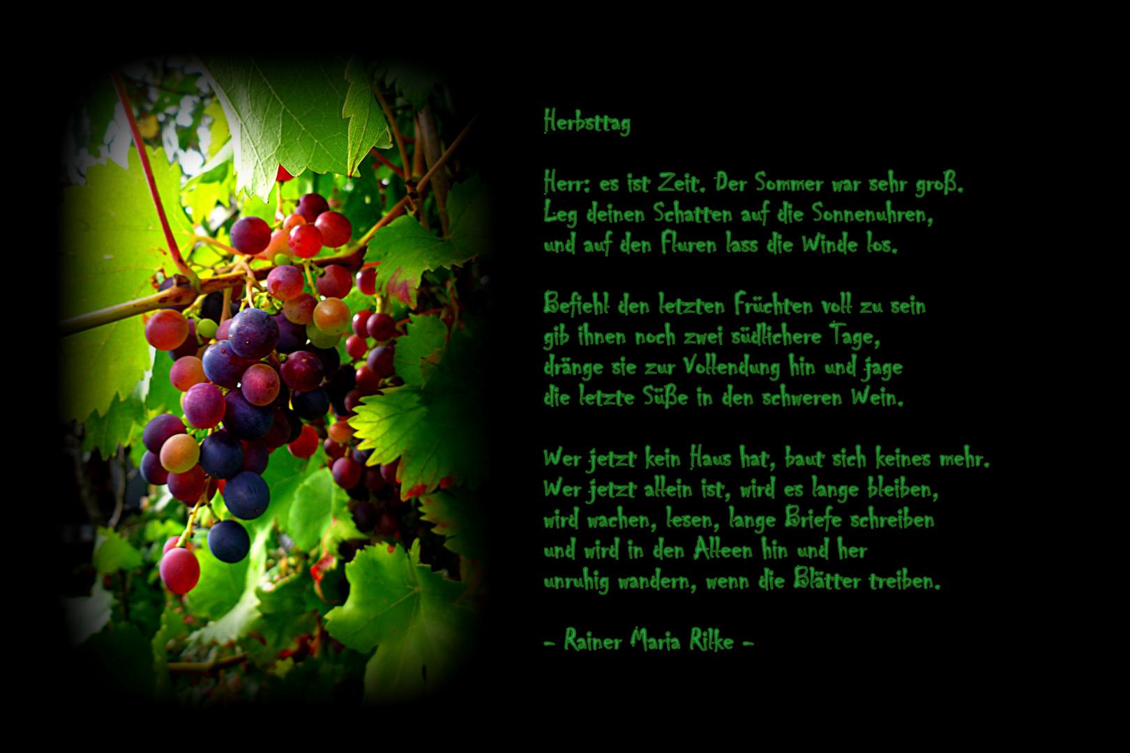 Herbsttag - Rainer Maria Rilke