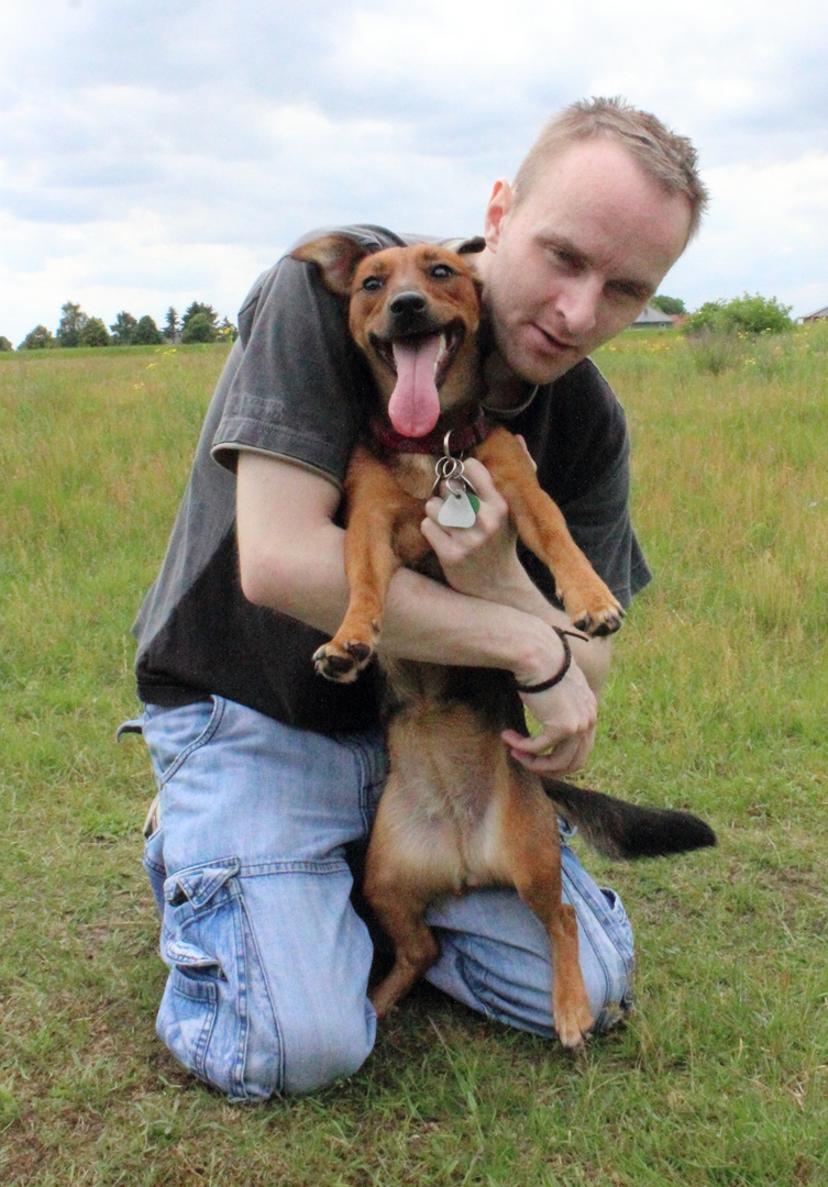 Herrchen Und Sein Hund Foto Bild Tiere Tier Und Mensch Hund