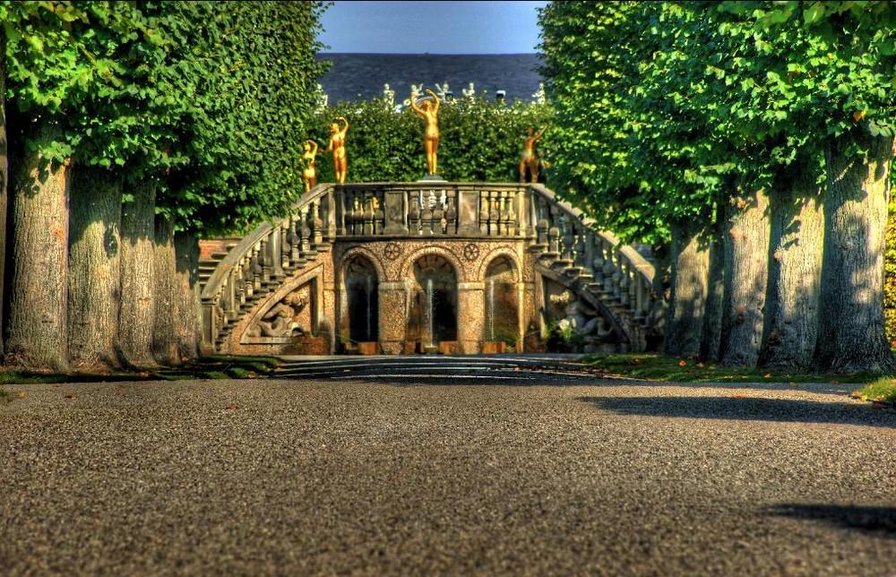 Herrenhäuser Gärten Hannover Gold Foto Bild Bearbeitungs