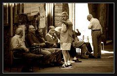 Herrenrunde in San Gimignano