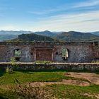 Herrliche Durchblicke und Weitblicke hatten wir bei Kaiserwetter auf der Ruine Lindelbrunn, 26.10.19