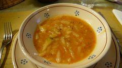 Hervorragendes Essen im Agriturismo Amatrice di Benni-Suppe