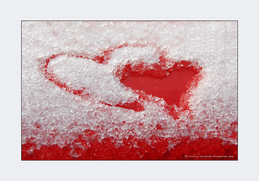 Herzen Im Schnee Foto Bild Emotionen Liebe Nah Und Makro