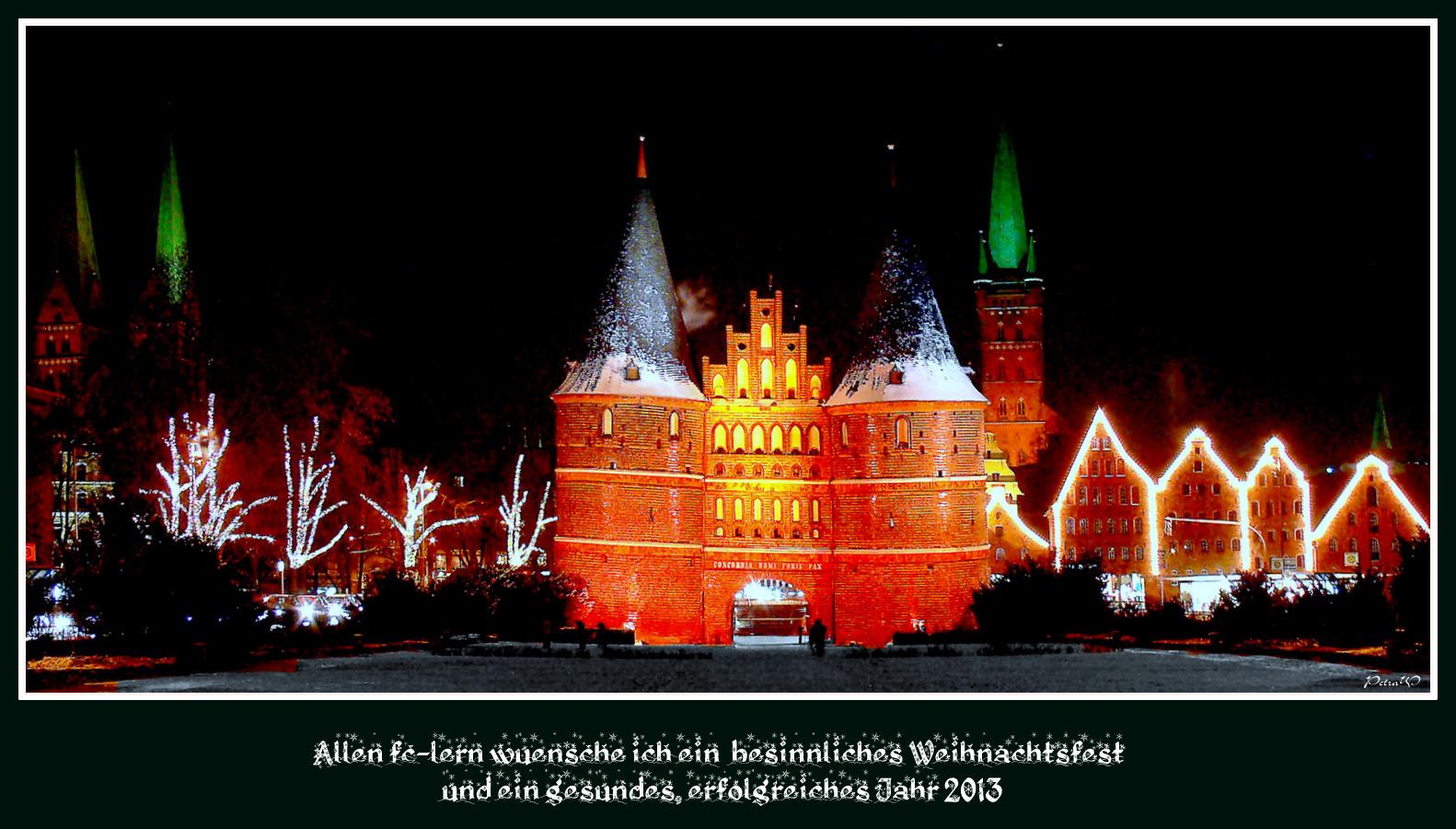 Herzliche Grüße aus Lübeck