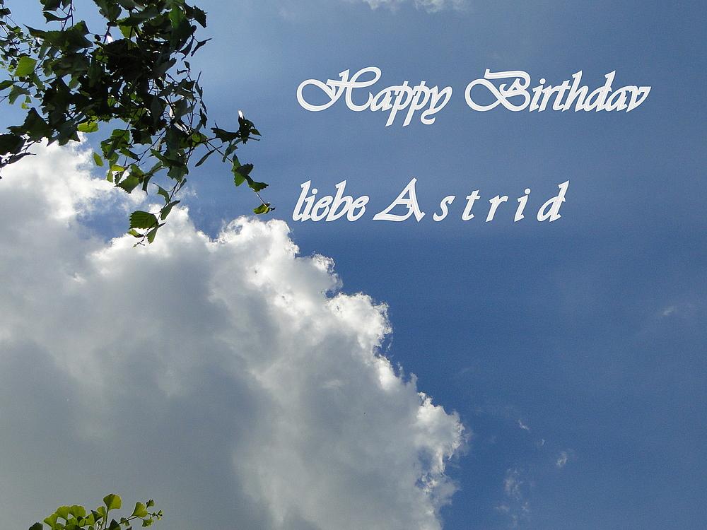 ....Herzlichen Glückwunsch liebe Astrid....
