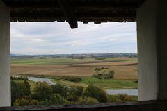 Heuneburgmuseum:Blick aus dem Fenster