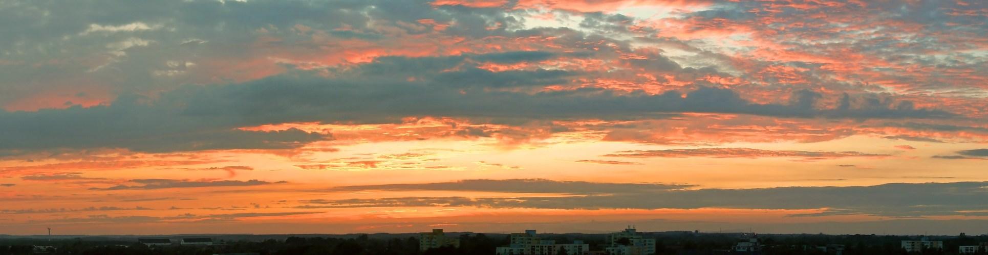heute abend von meinem balkon in harrislee