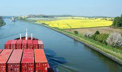 Heute auf dem Nord-Ostsee-Kanal