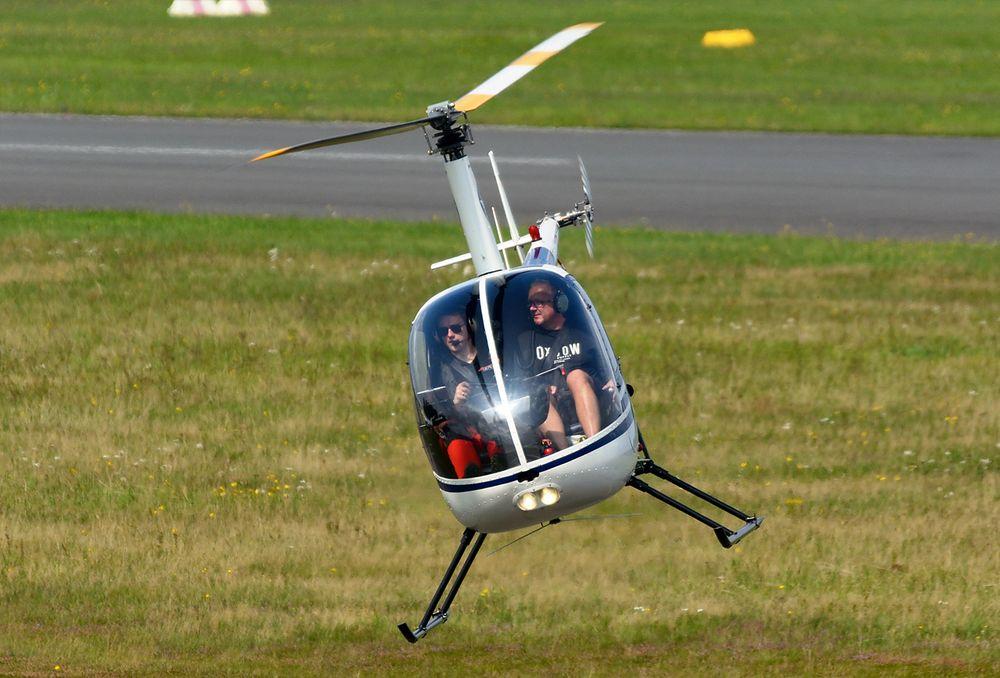 Hubschrauber über Bonn Heute