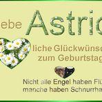 Heute ist dein Tag liebe Astrid