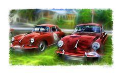- heute schon einen roten Porsche 356 gesehen? -
