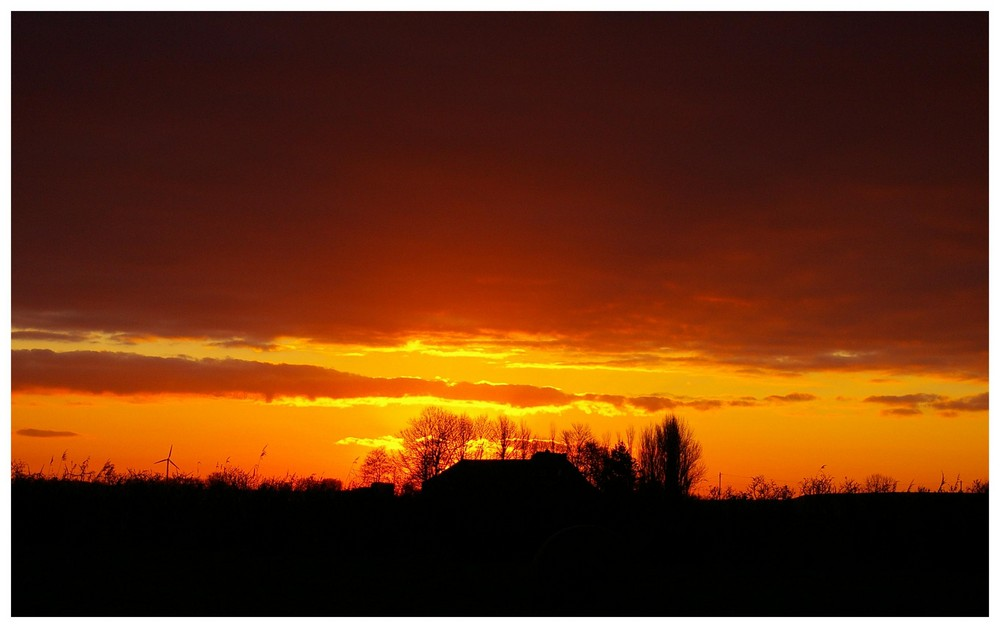 Heute, Sonnenaufgang 7:51 in Norddeich, Ostfriesland
