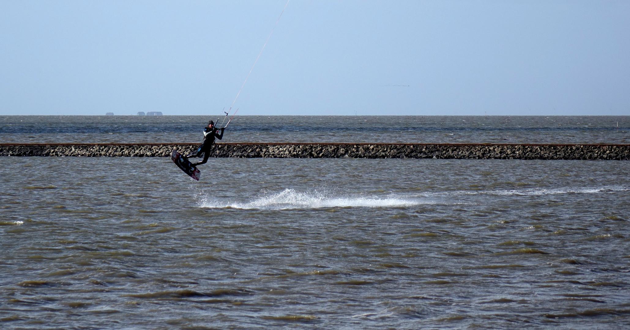 Heute war Kitesurfer-Wetter an der Nordsee...