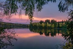 Hevevorbecken Beim Sonnenuntergang