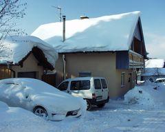 Hexenhäuschen im Schnee