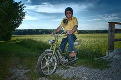 """"""" Hias auf seiner KTM Hobby """""""