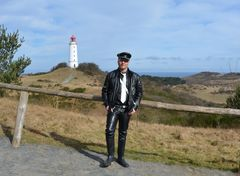 Hiddensee'er am Leuchtturm