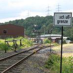 Hier endet das Gleis der DB