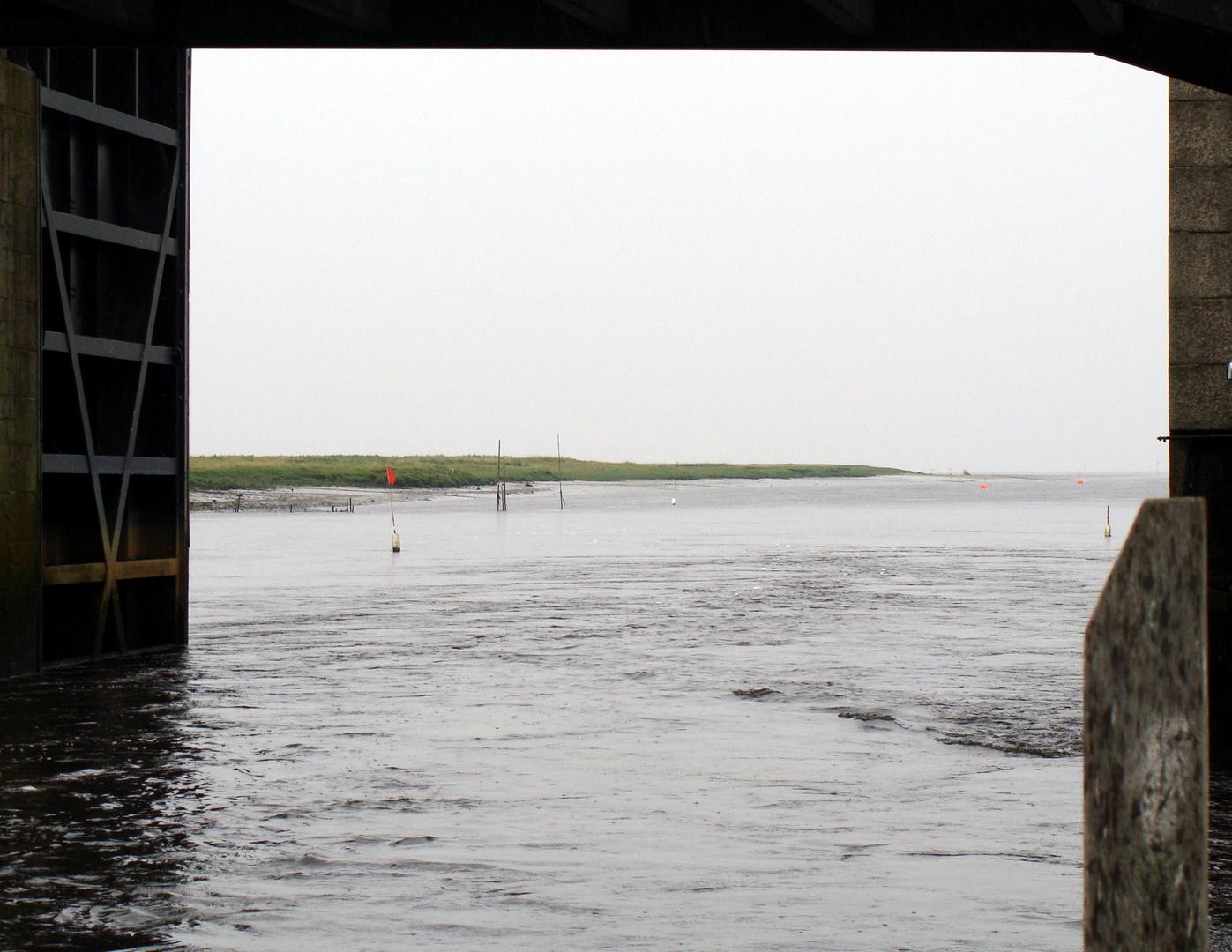 Hier fließt die Ribe-Aa in die Nordsee