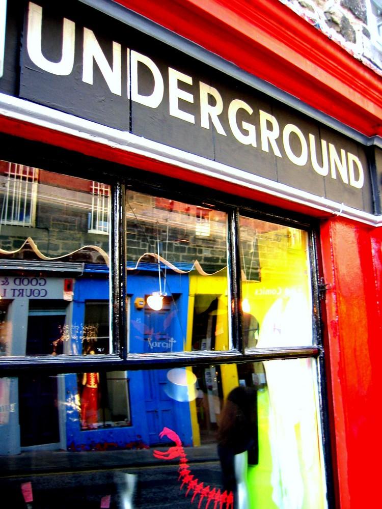 Hier gehts in den Untergrund.....