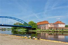 Hier verlassen wir die Weser..
