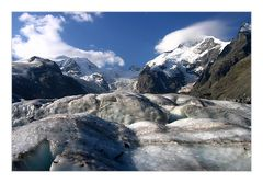 high alpine glacier world