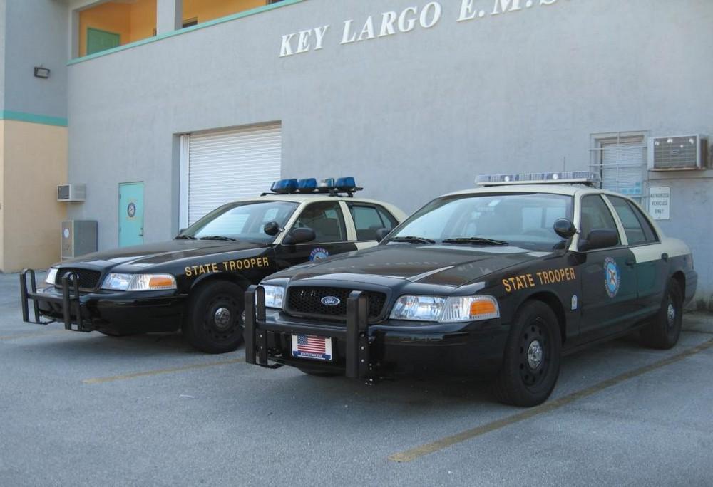 Highway Patrol in Key Largo, Florida