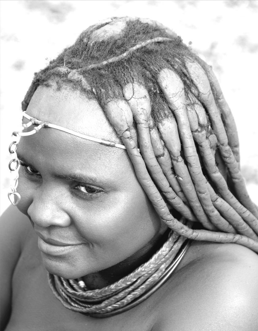 Himba Frau in sw