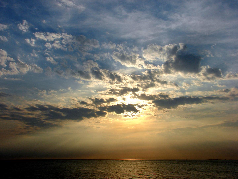 Himmel über der Ostsee