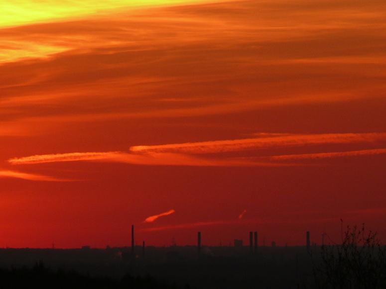 Himmel über Dormagen (9.4.2007)