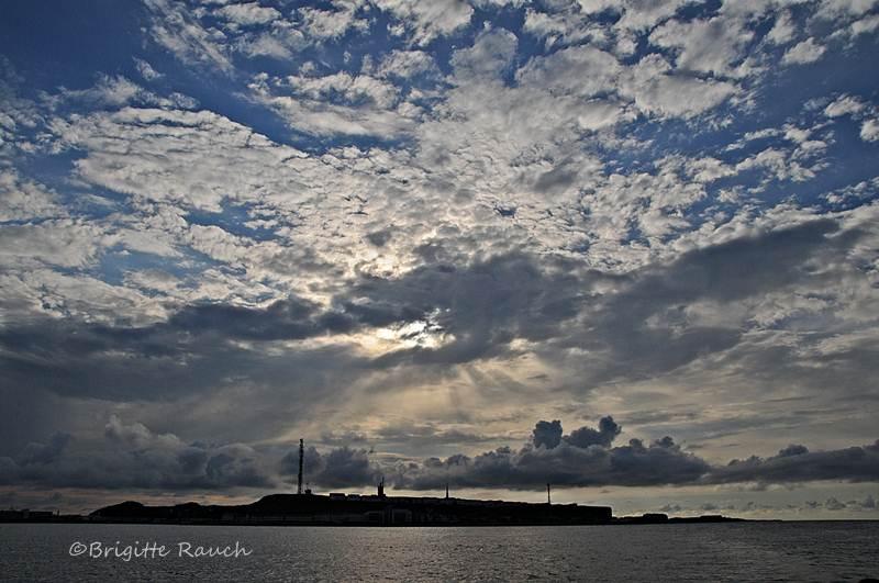 Himmel über Helgoland