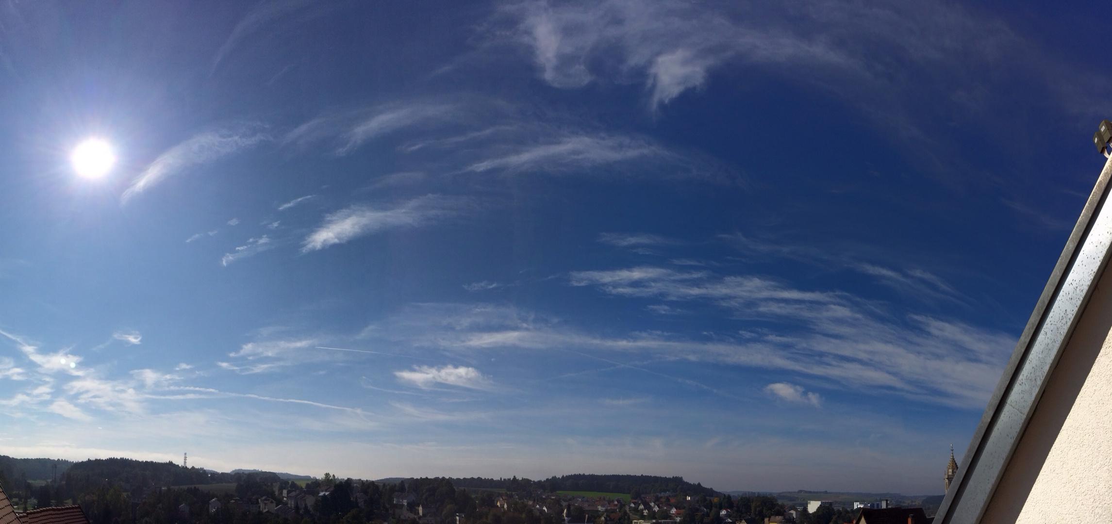 Himmel über meiner Heimatstadt II