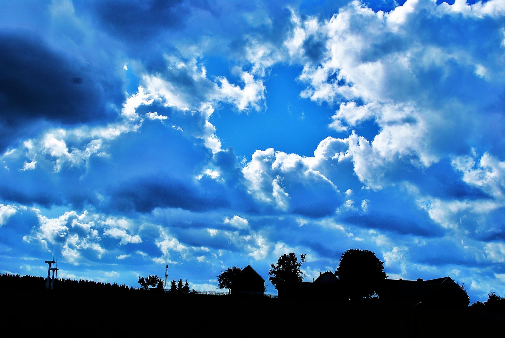 Himmel über Sachsen